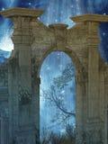 Magiczny drzwi ilustracja wektor