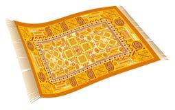 Magiczny Dywanowy Pomarańczowy kolor żółty Złoty Obrazy Royalty Free