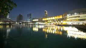 Magiczny fontanny 4k czasu upływ od Dubai centrum handlowego zdjęcie wideo
