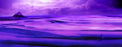 Magiczny góry saint michel zdjęcie royalty free