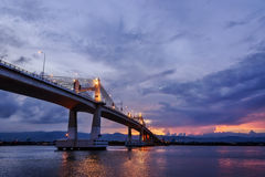 Magiczny godzina most Obrazy Royalty Free