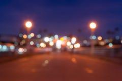 Magiczny jarzyć się zamazuję z ostrości tła świateł skutka Obraz Royalty Free