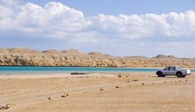 Magiczny jezioro w Egipt zdjęcia royalty free