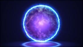 Magiczny lampowy zbliżenie Energia wśrodku sfery 4K royalty ilustracja