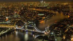 Magiczny Londyn przy nocą Fotografia Royalty Free