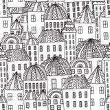 Magiczny miasto royalty ilustracja