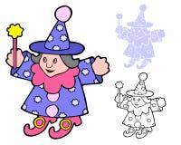 Magiczny munchkin czarownik Ilustracji