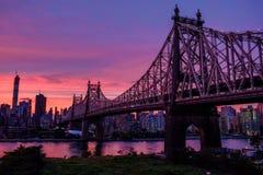 Magiczny niebo nad Manhattan Zdjęcie Royalty Free