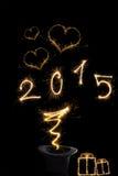 Magiczny nowy rok 2015 Zdjęcia Royalty Free