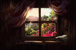 Magiczny okno Obrazy Stock