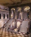 Magiczny pałac wejście z Uroczystym schody ilustracji
