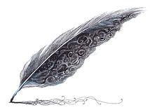magiczny pióro ilustracja wektor