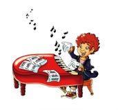 magiczny pianino ilustracja wektor