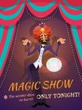 Magiczny przedstawienie plakat royalty ilustracja