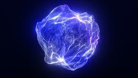 Magiczny sfera przepływu jarzyć się ilustracja wektor