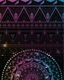 Magiczny tło z wzorami i mandala Obraz Royalty Free
