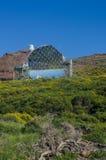 Magiczny teleskop w Roque De Los Muchachos Obserwatorium, losu angeles Pa fotografia stock