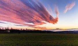 Magiczny zmierzch i gęste chmury Zdjęcie Stock