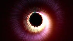 Magicznych cząsteczek ringowy abstrakcjonistyczny tło, animacja, rendering, pętla ilustracja wektor