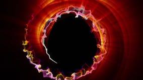 Magicznych cząsteczek ringowy abstrakcjonistyczny tło, animacja, rendering, pętla royalty ilustracja