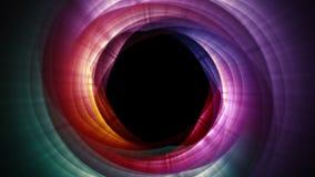 Magicznych cząsteczek ringowy abstrakcjonistyczny tło, animacja, rendering, pętla ilustracji