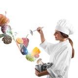 Magie beim Kochen lizenzfreie stockfotos