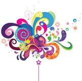Magie colorée illustration de vecteur