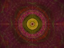 Magie créative moderne rêveuse numérique légère unique abstraite de décoration d'idée de fond de fractale future illustration stock