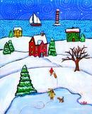 Magie de l'hiver Photo stock