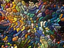 Magie de verre souillé Photos libres de droits
