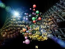 Magie der chemischen Elemente Stockbild