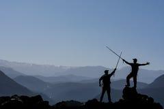 Magie et joie des montagnes Images stock