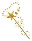 Magie et une baguette magique magique illustration libre de droits