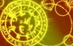 Magie, fond, signes magiques, mystiques, résumé Photographie stock libre de droits
