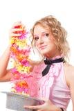 Magie mit Hut und Blumen Lizenzfreies Stockfoto