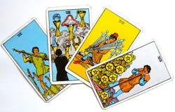Magie occulte de divination de cartes de tarot image libre de droits