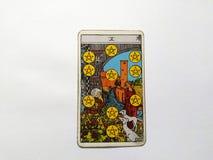 Magie occulte de divination de cartes de tarot photo stock