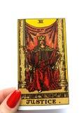 Magie occulte de divination de cartes de tarot image stock