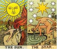 Magie occulte de divination de cartes de tarot photos stock
