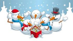 Magie pour des snowmens Photographie stock libre de droits