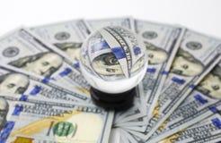 Magie von geld- 100 Dollarbanknoten Stockfoto