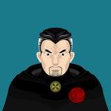 Magier Man mit Bart-Charakter Lizenzfreies Stockfoto