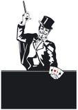 Magier mit Kartentrick Lizenzfreie Stockbilder