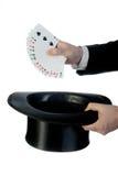 Magier und Karten Lizenzfreies Stockfoto