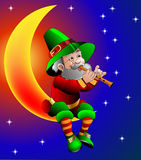 Magierspiele auf Flöte Lizenzfreie Stockfotos
