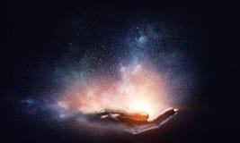 Magii światło w palmie Obraz Stock