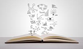Magii książka z biznesowym pojęciem Zdjęcia Stock