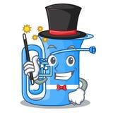 Magika miniaturowy tuba w kształt kreskówce ilustracji