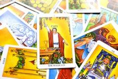 Magika Tarot karty władzy Intelect magii kontrola royalty ilustracja