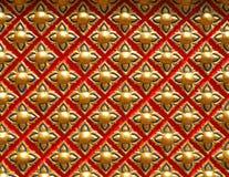 Magin av geometri på en buddistisk tempel royaltyfri foto